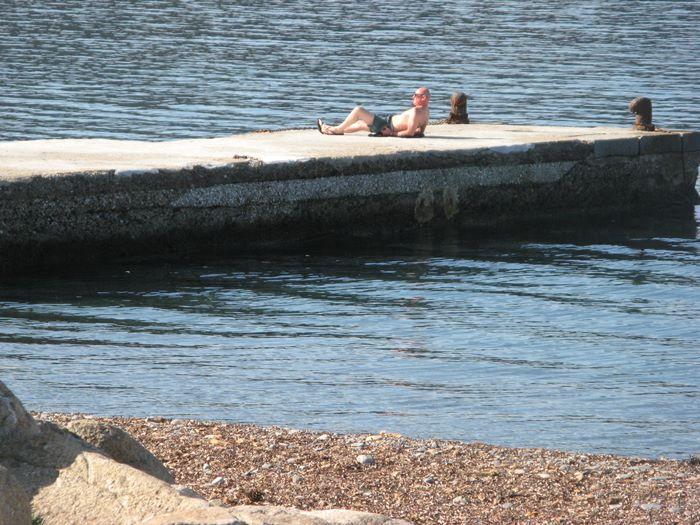 длинные выходняе - на пляже Эмфола на Эльбе