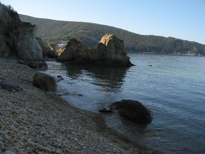вид на левую часть пляжа Пинетина
