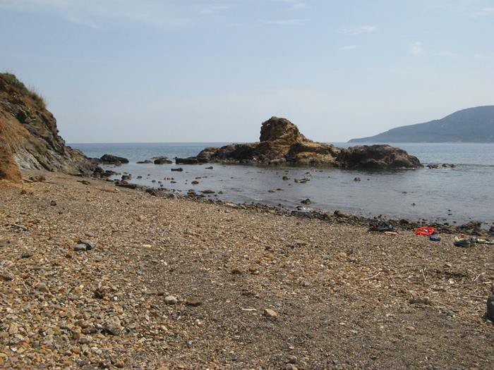 левая часть пляжа Терранова на Эльбе