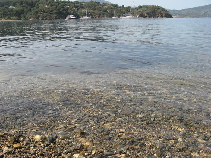 Вид на море с пляжа Феррато