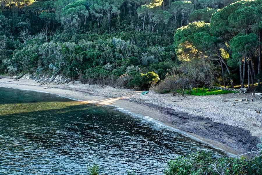 пляж Истия на острове Эльба - январь 2020