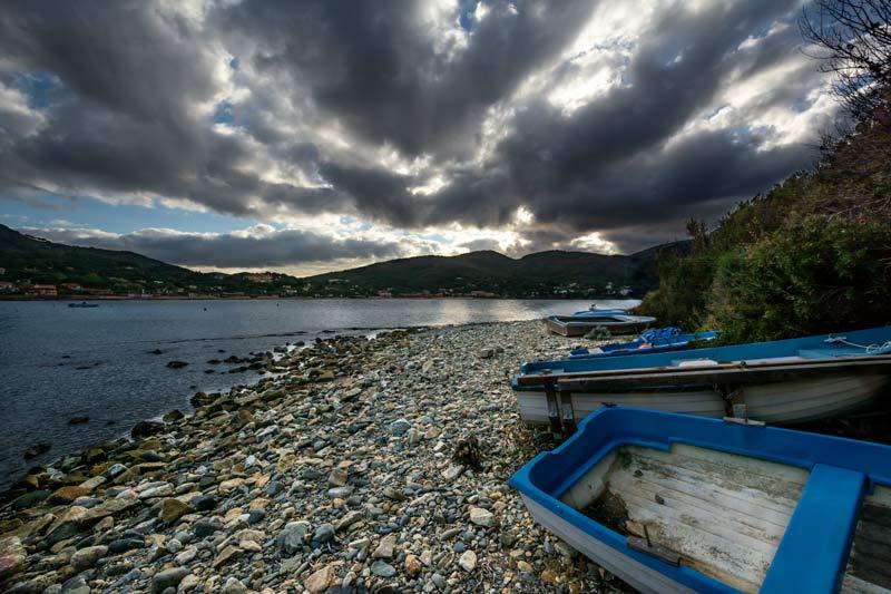 пляж Гвардиола - лодки