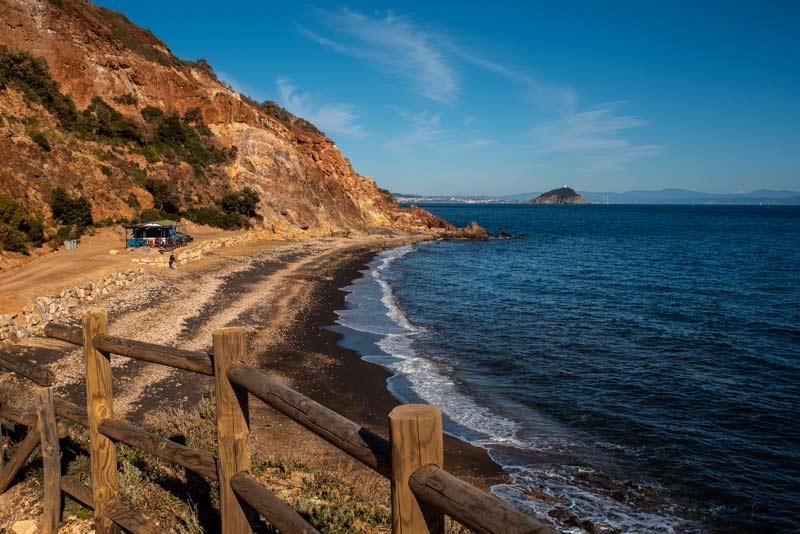 ширь пляжа Топинетти на острове Эльба
