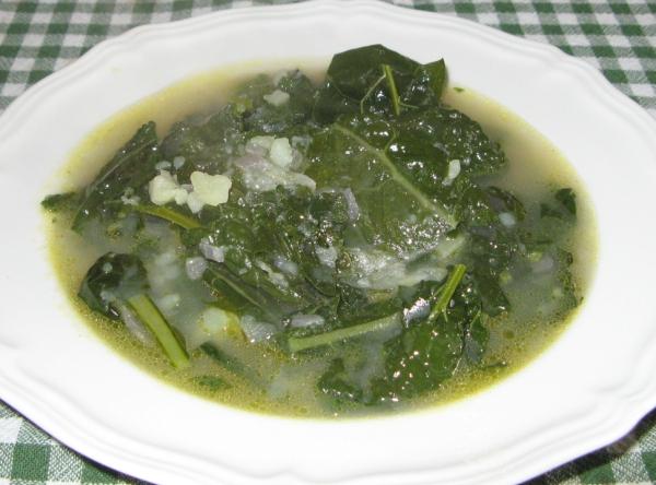 суп с чёрной капустой
