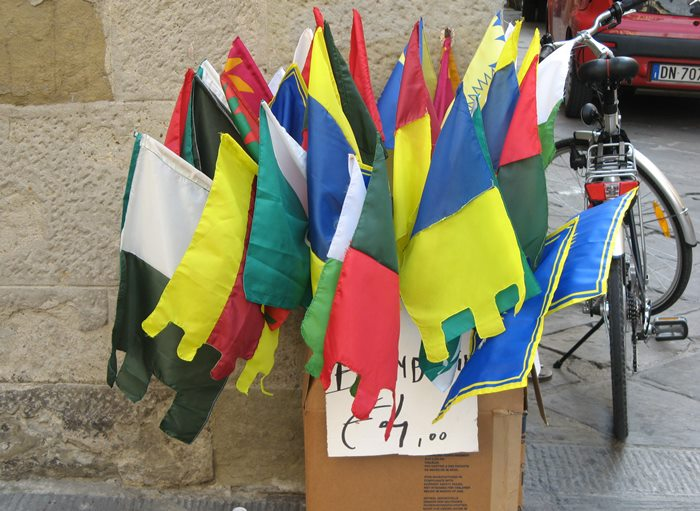 флаги 4-х кварталов в Ареццо