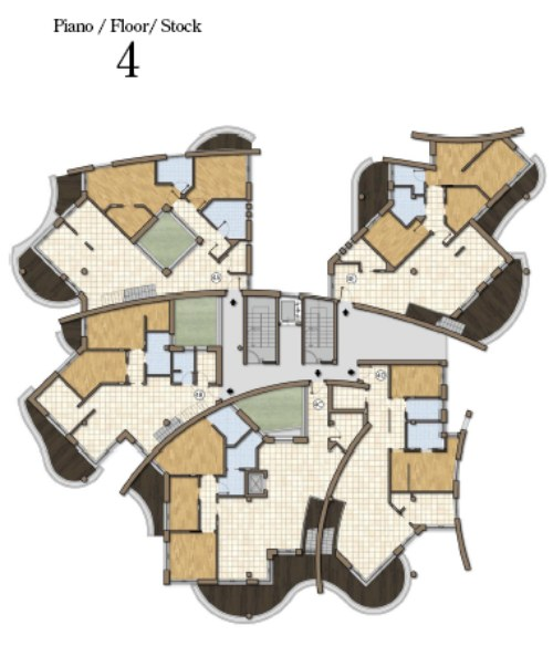 поэтажный план элитного дома