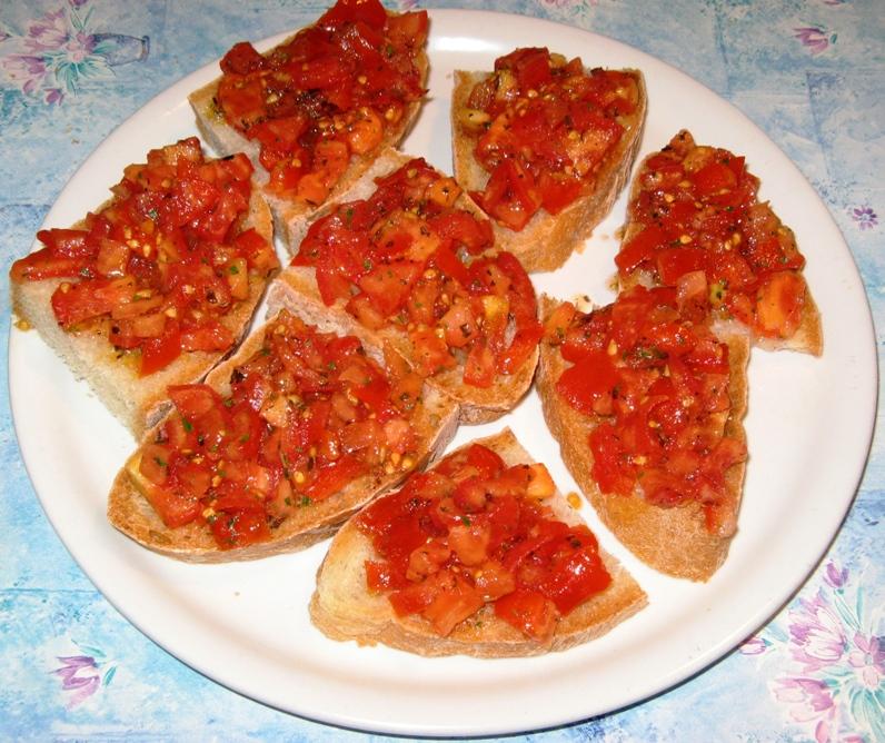 закуска: помидоры и душица