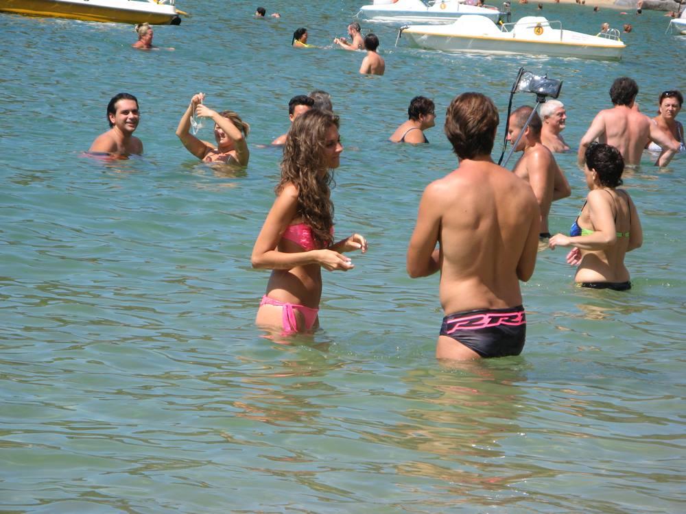 жизнь на пляже в Италии